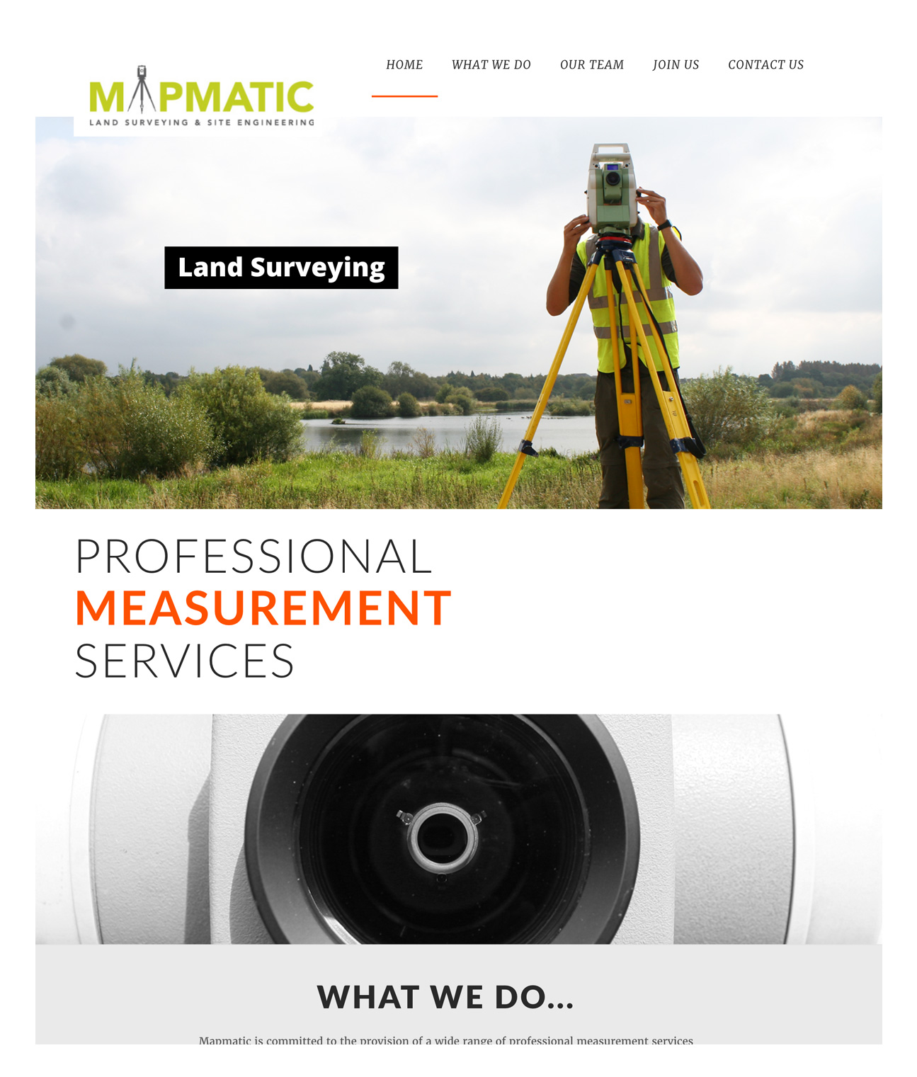 mapmatic surveying website design derby